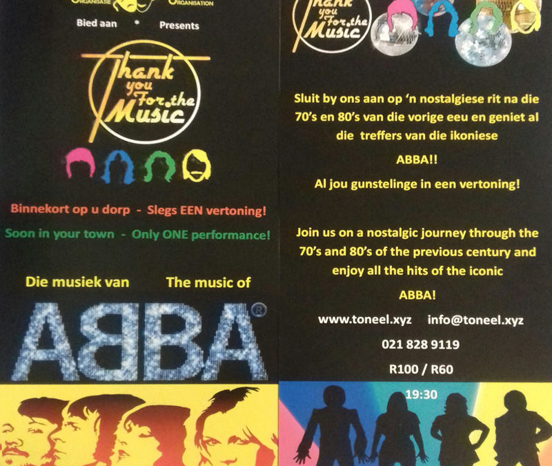 ABBA Tribute – Thank you for the Music