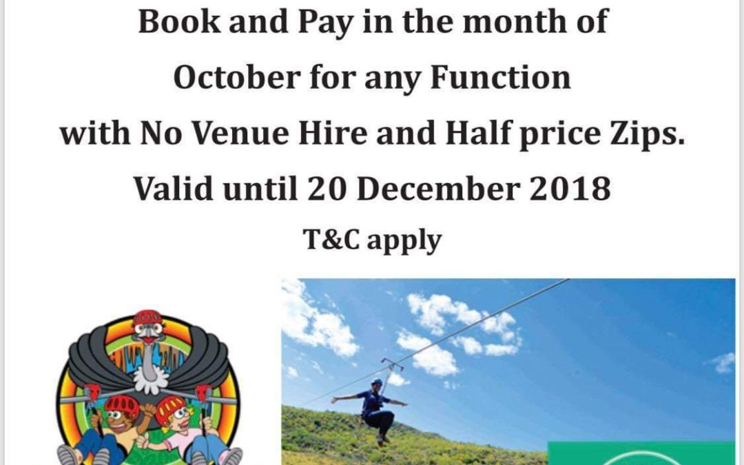 Cango Caves Zipline – Free Venue Hire