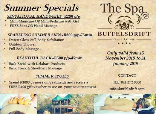 The Spa @ Buffelsdrift Game Lodge