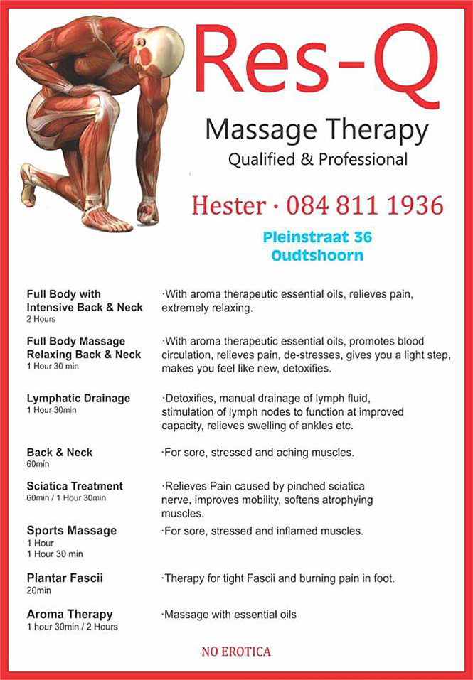 Massage Therapy Oudtshoorn