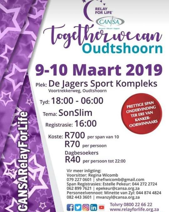 Cansa Relay – Together we can Oudtshoorn
